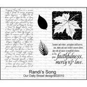 Our Daily Bread Cling Rubber Stamp 18cm x 13cm -Randi's Song
