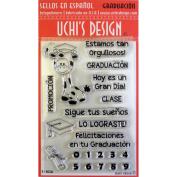 Uchi's Design Spanish Clear Stamp Set 10cm x 15cm Sheet-Graduacion