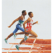 Athlete (Runners) On Aida Counted Cross Stitch Kit-15cm - 0.6cm x 17cm 18 Count