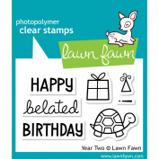 Lawn Fawn Clear Stamps 7.6cm x 5.1cm -Year 2