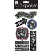 Soft Spoken Themed Embellishments-Chalk - This Is My Life