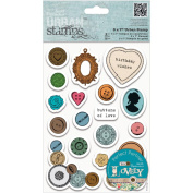 Papermania Sew Lovely Urban Stamps 13cm x 18cm -Mixed Buttons