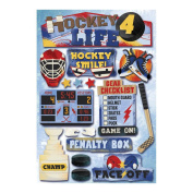 Cardstock Stickers-Hockey For Life