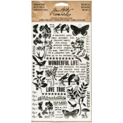 Botanical Remnant Rubs by Tim Holtz Idea-ology, 13cm x 18cm , 2 Sheets, Black/White, TH93119