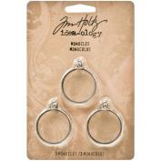Idea-ology Monocles 3.2cm 3/Pkg-Antique Nickel W/Glass
