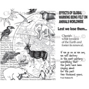 Chapel Road Cling Mounted Rubber Stamp Set 15cm x 17cm -Lest We Loose Them