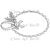 Class Act Cling Mounted Rubber Stamp 7.6cm x 14cm -Gift Tag