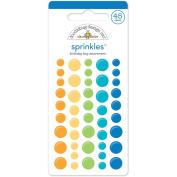 Hip Hip Hooray Sprinkles Glossy Enamel Stickers 45/Pkg-