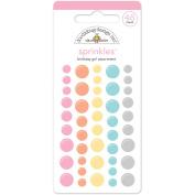 Sugar Shoppe Sprinkles Glossy Enamil Stickers 45/Pkg-Birthday Girl