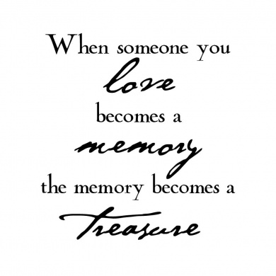 Verses Cling Mounted Rubber Stamp 11cm x 17cm -Love Becomes A Memory