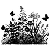 Crafty Individuals Unmounted Rubber Stamp 12cm x 18cm Pkg-Wild Flowers & Butterflies