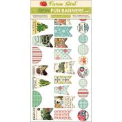 Farm Girl Sew Fun Sewable Cardstock Banners