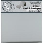 Fundamentals Stepper Square Cards & Envelopes 15cm x 15cm 4/Pkg-Accordion White