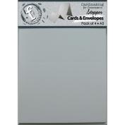 Fundamentals Stepper A5 Cards & Envelopes 22cm x 14cm 4/Pkg-Accordion White