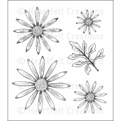Heartfelt Creations Cling Rubber Stamp Set 13cm x 17cm -Delicate Asters