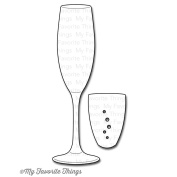 Die-Namics Die-Layered Champagne Glass