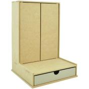 Beyond The Page MDF L-Shaped Cupboard-41cm x 30cm X10.60cm