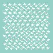 Template 30cm x 30cm -Checker Plate
