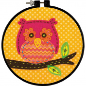 Learn-A-Craft Little Owl Felt Applique Kit-15cm Round