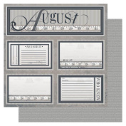 Year In Review Double-Sided Cardstock 30cm x 30cm -August