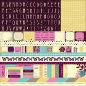 Botanical Odyssey Cardstock Stickers 30cm x 30cm -Alpha