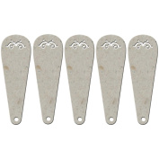 Die-Cut Grey Chipboard Embellishments-Fan (5 Blades), 11cm x 3.8cm Each Blade