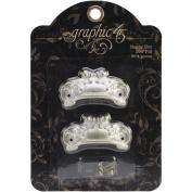 Staples Ornate Metal Door Pulls 2/Pkg-Shabby Chic With 4 Brads