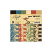 Good Ol' Sport Double-Sided Paper Pad 15cm x 15cm -36 Sheets -12 Pattern/Solid Designs, 3ea