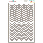 Stencil Mask Peel Away Pattern 30cm x 46cm Sheet-Chevron