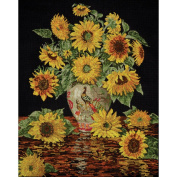 Sunflower Vase Counted Cross Stitch Kit-41cm x 50cm 14 Count