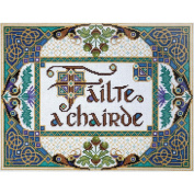Welcome Friends Counted Cross Stitch Kit-25cm x 33cm 14 Count