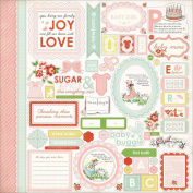 Baby Mine Girl Cardstock Stickers 30cm x 30cm -Element