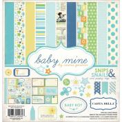 Carta Bella Collection Kit 12inX12in-Baby Mine/Boy