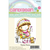 Candibean Unmounted Rubber Stamp 8.3cm x 6.9cm -Painter Penny