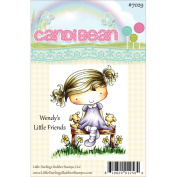 Candibean Unmounted Rubber Stamp 7.9cm x 6.6cm -Wendy's Little Friends