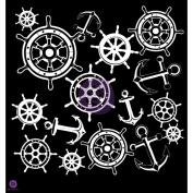 Prima Designer Stencil 30cm x 30cm -Anchors & Helm