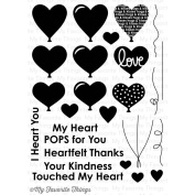My Favourite Things Die-Namics Companion Stamps 15cm x 20cm Sheet-Heart Balloons