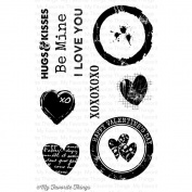 My Favourite Things Mona Pendleton Designs Stamps 10cm x 15cm Sheet-Distressed Hearts