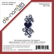 Die-Namites Die-Flowing Heart, 4.6cm x 9.4cm