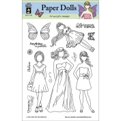 Hot Off The Press Acrylic Stamps 15cm x 20cm Sheet-Faceless Dolls