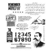 Tim Holtz Cling Rubber Stamp Set 18cm x 22cm -Merchantile