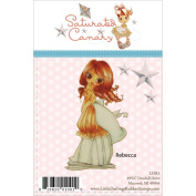 Saturated Canary Unmounted Rubber Stamp 10cm x 6.4cm -Rebecca