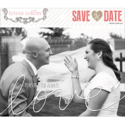 Save The Date Photo Overlays-10cm x 15cm & 13cm x 18cm , 5 Each