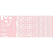 Basically Essential Stencils 20cm x 25cm 3/Pkg-Remember & Thanks, Pattern, Chevron