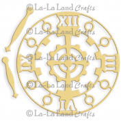 La-La Land Die-Steampunk Clock, 7.6cm x 7.6cm