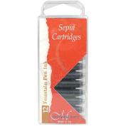 12 Ink Cartridges for Manuscript Pens - Sepia Brown