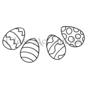 Class Act Cling Mounted Rubber Stamp 3.8cm x 6.4cm -Curved Eggs