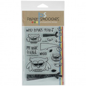 Paper Smooches 10cm x 15cm Clear Stamps-Hooties