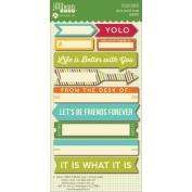 Spicy Social Soup Cardstock Stickers 7.6cm x 16cm -Soup Label