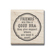 Laugh Out Loud Mounted Rubber Stamp 5.1cm x 5.1cm -Give Support